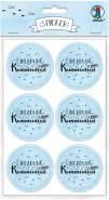 """URSUS 24 Sticker """"Einladung zu meiner Kommunion"""", hellblau"""