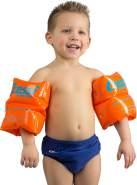 Cressi Swim Kinder Premium Arm Bands Schwimmflügel Schwimmhilfe 2-6 Jahre Aufblasbar, Orange, Max 25Kg