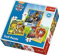 Trefl 3in1 Paw Patrol Puzzle 20-36-50 Teile, Mehrfarbig, 34839
