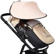 Cangaroo Universal Sonnenschutz für den Kinderwagen rosa
