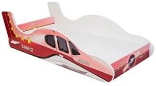 Angelbeds 'Plane' Flugzeugbett 80x160 cm, Motiv 2, mit Flex-Lattenrost und Schaummatratze