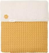 Koeka - Einzelne Decke Oslo - Einzelne Decke Mit Teddy Gefüttert - Waschbar - Baumwolle - - Ocker - 140X200 cm