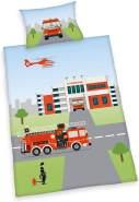 Feuerwehr Bio-Baumwolle Bettwäsche - Set 100x135 40x60cm