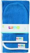 Luma Babycare L00907 Badetuch und Waschhandschuh, Ocean Blue