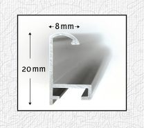 Schipper 605230770 Malen nach Zahlen, Alurahmen 40 x 50 cm, silber matt ohne Glas für Ihr Kunstwerk, einfache Selbstmontage