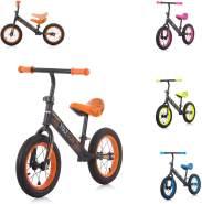 Chipolino Laufrad Max Fun, Lufträder, Sitz verstellbar, Neon-Design, Gummigriffe orange