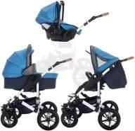 Bebebi myVARIO | 3 in 1 Kombi Kinderwagen Komplettset | Luftreifen | Farbe: myBoy