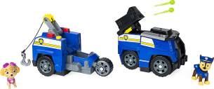 PAW Patrol 6055931 - Chases & Marshalls 2 - in - 1 - Split Second Fahrzeuge mit Figuren