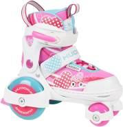 HUDORA 'My First Quad 2.0' Rollschuhe, größenverstellbar, Schuhgröße 26 bis 29, pink