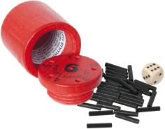 Bartl 108867 Spannendes Würfelspiel aus Holz Warum Immer ich?, klein, rot - ideal zum Mitnehmen