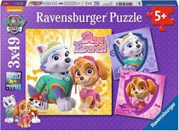 Ravensburger Kinderpuzzle 08008 - Bezaubernde Hundemädchen - 3 x 49 Teile