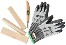 A600377 Schnitz-Set Messe,Handschuhe,Holz - Kids at work