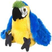 Wild Republic Plüsch Papagei Ara, Cuddlekins Kuscheltier, Plüschtier, 20cm