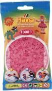 Hama 207-72 Bügelperlen Beutel 1000x, rosaHama 1000 Perlen pink transparent