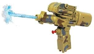 2-in-1 Wasserpistole/Panzer beige 25 cm