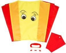 Wolkenstürmer Sled Karlchen Gelb Kinderdrachen - 1-Leiner Kite ohne Gestänge
