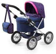 Bayer Design 13054AA Puppenwagen Trendy mit Tasche, höhenverstellbarer Griff, Einhorn, blau, rosa