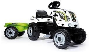 Smoby–710113–Bauernhoftraktor XL Kuh + Anhänger