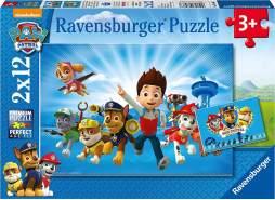 Ravensburger Kinderpuzzle 07586 - Ryder und die Paw Patrol - 2 x 12 Teile