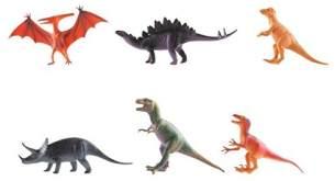 Idena 4320102 Spielfigurenset mit 6 Dinosauriern, aus Kunststoff, frei von BPA und Phthalaten, je ca. 15 cm
