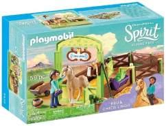 PLAYMOBIL DreamWorks Spirit 9479 Pferdebox Pru & Chica Linda, Ab 4 Jahren