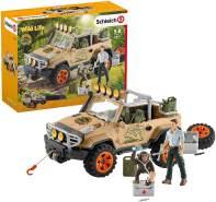 Schleich 42410 Wild Life Spielset - Geländewagen mit Seilwinde, Spielzeug ab 3 Jahren