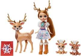 Mattel 'Enchantimals' Rainey Reindeer Puppe, Marathon & Familie GNP17