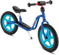 PUKY 4001 'LR 1 L' Laufrad, für Kinder ab 90 cm Körpergröße, bis 25 kg belastbar, höhenverstellbar, blau/Fußball