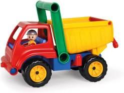 Lena 4350 Aktive LKW Kipper, Baustellenfahrzeug ca. 27 cm, robuster Kipplaster mit Haltegriff und beweglicher Spielfigur, Muldenkipper Spiel Set, Spielfahrzeug für Kinder ab 2 Jahre, Mehrfarbig