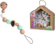 Eichhorn Baby Pure Schnullerkette mit Clip, aus FSC 100 Prozent zertifiziertem Holz, nachhaltiges Holzspielzeug, zum Befestigen des Schnullers, für Kinder ab den ersten Lebensmonaten geeignet