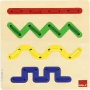 Jumbo Spiele D55017 Fädelspiel Linien