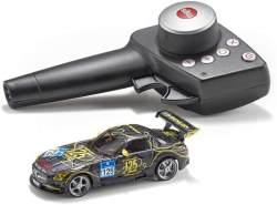 SIKU 6823, Mercedes-Benz SLS AMG GT3, Ferngesteuertes Spielzeugauto, 1:43, Schwarz, Metall/Kunststoff, Inkl. Fernsteuermodul und Akku