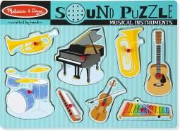 Melissa & Doug 10732 SoundpuzzleausHolz-Musikinstrumente