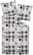 Janine Feinbiber 3 teilig Bettbezug 200 x 200 cm Kopfkissenbezug 80 x 80 cm Davos 65077-08 silber graphit taupe