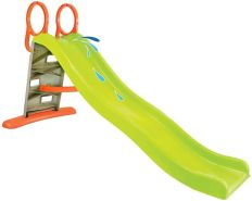 Mochtoys 11564 'Slide' Kinder- und Wasserrutsche, ca. 110 x 205 x 84 cm, ab einem Jahr, bis 50 kg belastbar, grün/orange/grau