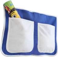 Ticaa Bett-Tasche für Hoch- und Etagenbetten - blau-weiß