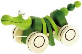 Bino 90986 - Nachziehspielzeug - Mertens Ziehtier Krokodil