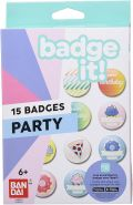 Bandai– Badge It! - Nachfüllpack Party für Badge It! Buttonmaker - Basteln– 35412