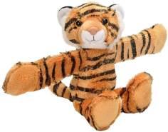 Wild Republic Huggers Schnapparmband Kuscheltier, Plüschtier, Tiger 20 cm