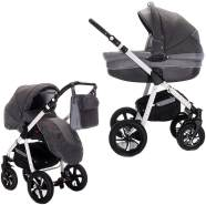 Friedrich Hugo PCS_MANDALA-2IN1-AIR-N10 Mandala, 2 in 1 Kombi Kinderwagen Luft, Espresso, braun
