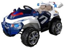 Kinder Elektro Auto Jeep Kinderauto Elektrofahrzeug Kinderfahrzeug Spielzeug (Blau/Weiß)