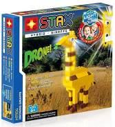 Light STAX Hybrid Droning Giraffe H11104, Licht und Sound Bausteinset, kompatibel mit dem STAX System und allen bekannten Bausteinmarken, inklusive 61 Bausteinen und 14 STAX Bausteinen