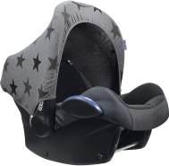 Sonnenverdeck für Babyschalen / UPF 50+ / Graue Sterne