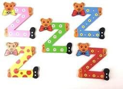 Brink Holzspielzeug Buchstabe: 'Z' - 1 Stück, zufällige Auswahl, keine Vorauswahl möglich