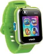 """VTech 'Kidizoom Smart Watch DX2', ab 5 Jahren, LCD Farb-Touchdisplay (1,41"""", 128 x 128 Pixel), inkl. vielen lustigen Uhrmotiven zum Wechseln und aufregenden Bewegungsspielen, grün"""