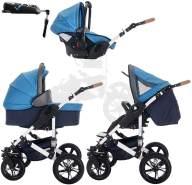 Bebebi myVARIO | 4 in 1 Kinderwagen + ISOFIX | Hartgummireifen | Farbe: myBoy