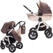 Friedrich Hugo PCS_MANDALA-2IN1-AIR-N01 Mandala, 2 in 1 Kombi Kinderwagen Luft, Caffèlatte, braun