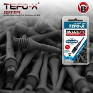 BULL'S Erwachsene Schwarz Tefo-x Soft Tips 6mm 100's, 100