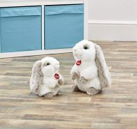 Trudi 23705 Plüsch Hase, Weiß/Grau
