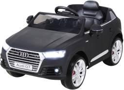 Kinder Elektroauto AUDI Q7 4M SUV Kinderauto Elektrofahrzeug Spielzeug Auto (Schwarz Matt)